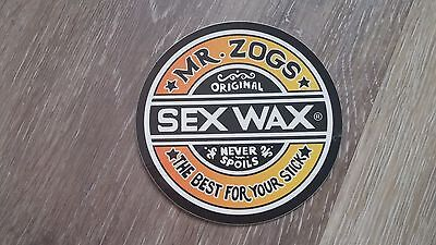 Mr. Zogs Original Sex Wax The Best for your Stick! Decal/Sticker 3 inch  COOL!