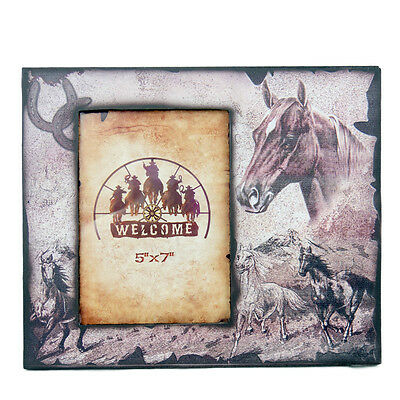 New Resin Photo Frame - Horse Head Print - 7x 5 Frame - 7016  Photo Frame