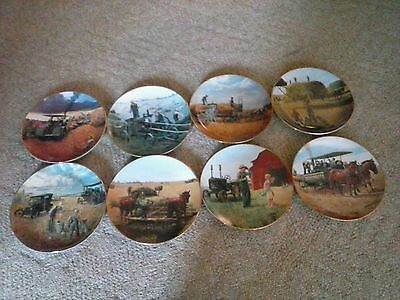 Danbury Mint Collector Plates Farming the HeartLand (Set of 8 plates) NOS. NIB.