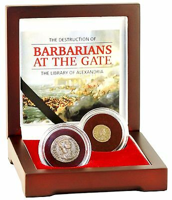 Barbarians at the Gate, Destruction of the Library of Alexandria 2 Coin Box Set