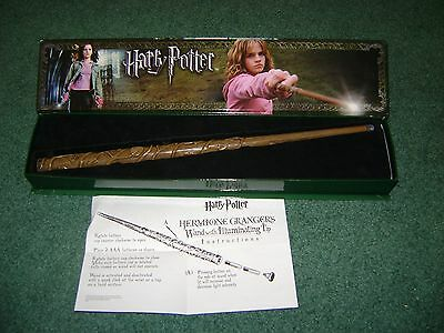 Harry Potter   The Noble Collection   Hermione Grangers Wand With Lighted Tip