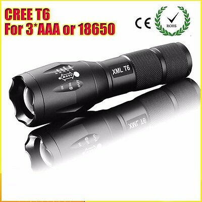 JaaU CREE XML T6 2000 Lumens High Power CREE LED Torches Zoomable CREE LED Flash