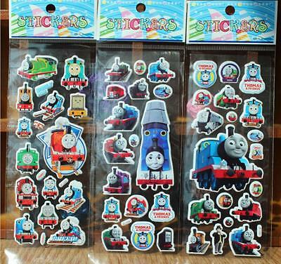 New 3D Puffy Cartoon Thomas Stickers Kids Crafts Gift Party -kdis Birthday Gift