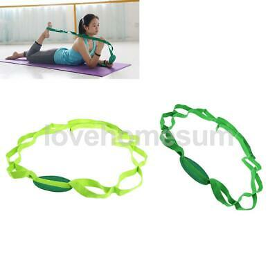 Multi-Grip Loops Yoga Stretch Strap Waist Leg Back Pilates Fitness Exercise Belt