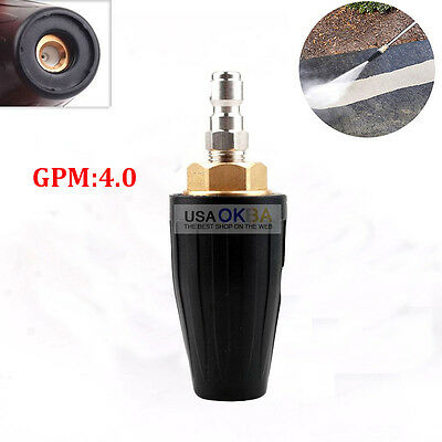 """040 High Pressure Washer Rotating Rotary Turbo Nozzle 4.0 GPM 1/4"""" Quick Connect"""