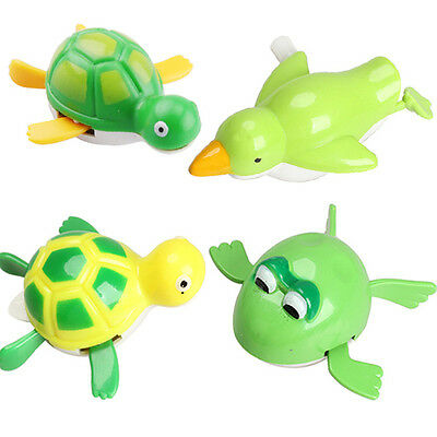 Turtles Child Baby Wind up Bath Diver Bathing Swimming Baby Kids Bath Toys AU