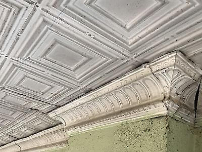 Reclaimed Antique Tin 2' X 4' Art Deco / Salvage Pressed Ceiling Tiles
