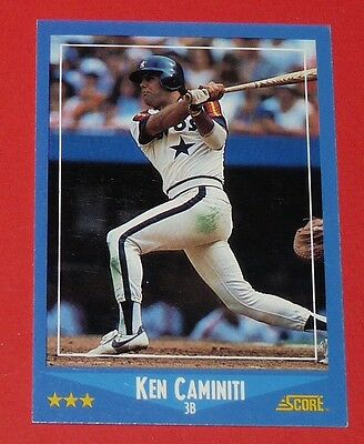 Ken Caminiti Astros Houston Baseball Card Score Usa 1988