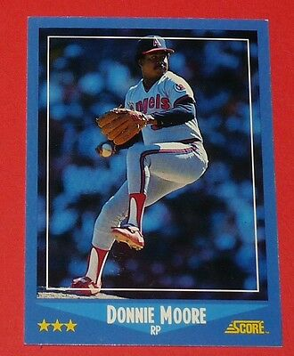 Donnie Moore California Angels Baseball Card Score Usa 1988