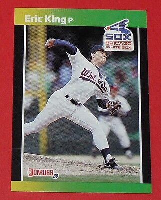 Eric King Chicago White Sox Donruss 89 Baseball Card Leaf Usa 1989