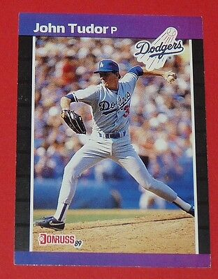 John Thomas Tudor Dodgers Los Angeles Donruss 89 Baseball Card Leaf Usa 1988