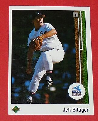 Jeff Bittiger White Sox Chicago Baseball Card Upper Deck Usa 1989