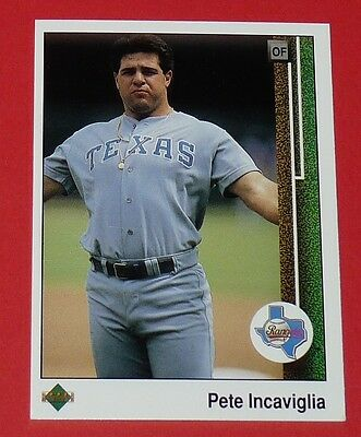 Pete Incaviglia Rangers Texas Baseball Card Upper Deck Usa 1989