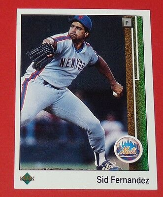 Sid Fernandez Mets New York Baseball Card Upper Deck Usa 1989