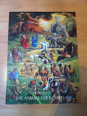 The animals of Noah's Ark Liberia stamp sheet