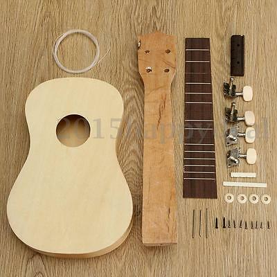 21'' Self-Build Ukulele DIY Soprano Hawaii Ukulele Kit Musical Instrument Gift