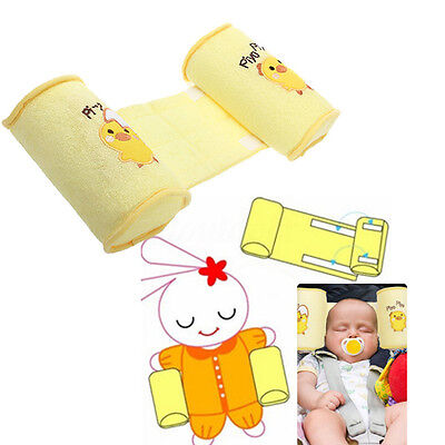 Baby Infant Newborn Sleep Positioner Prevent Flat Head Shape Anti Roll Pillow US