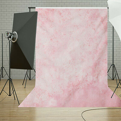 3x5FT Fuzzy Flowers Pink Cloth Photo Backdrop Photography Background Studio Prop
