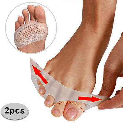 1 Pair Toe Pads Silicone Gel Shock Anti Forefoot Pad Toe Separator Shoes Cushion