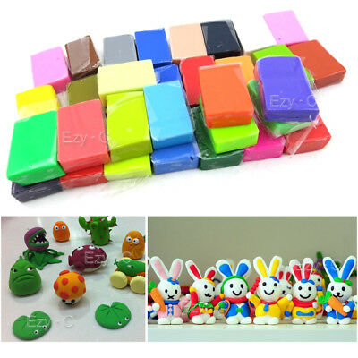 64PCS Craft Malleable Fimo Polymer Modelling Soft Clay Block Plasticine Toys