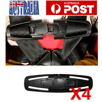 4x Car Baby Child Safety Seat Strap Belt Harness Chest Clip Buckle Latch Nylon