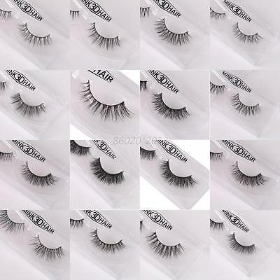 AU 3D Mink Natural Long Curling Thick False Fake Eye Lashes Eyelashes Extension