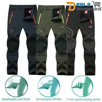 Outdoor Mens Soft shell Camping Tactical Cargo Pants Combat Hiking Trousers