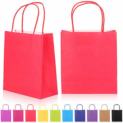10/20/30/50Pcs Party Gift Colour Paper Wedding Birthday Christmas Shopping Bags