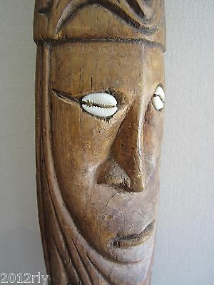 Papua New Guinea Hand Carved Wooden Wall Mask (PNG Primitive Native Carving)