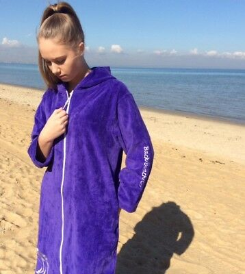 Hooded Towel Robes - Opulence Purple - Back Beach Co