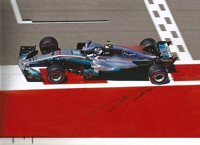 Valtteri Bottas FORMULA ONE MERCEDES 2017 autograph, In-Person signed photo