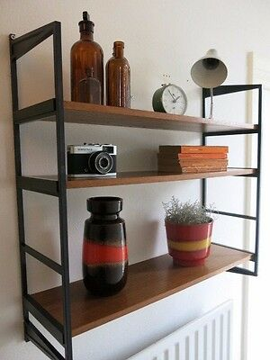 Vintage Mid Century String Wooden Shelving Unit