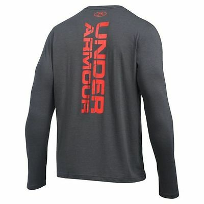 "Men's T-Shirt Under Armour ""Vertical Wordmark"" Training Gym Fitness 1280978-090"