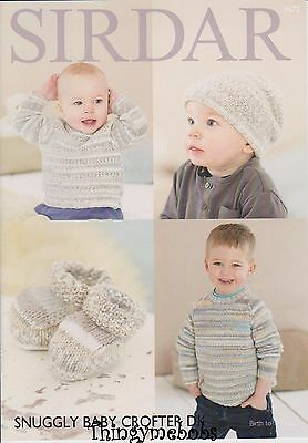 Sirdar 4672 Snuggly Baby Crofter Sweater/hat/bootees Original Knitting Pattern