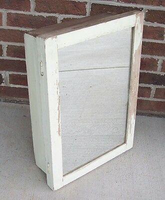 Antique Vintage Shabby Medicine Cabinet Painted Wooden