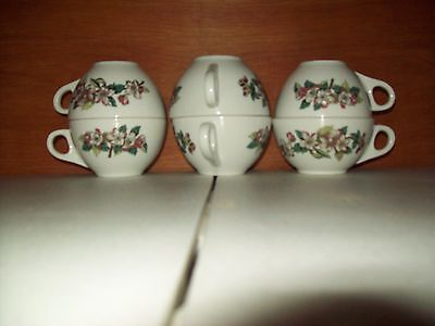 Lot of 6 Shenango China Dogwood Pattern I Think Tea / Coffee Cups