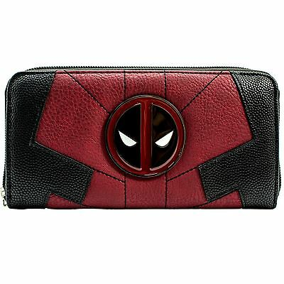 New Official Marvel Deadpool Anti-Hero Suit Up Red Coin & Card Clutch Purse