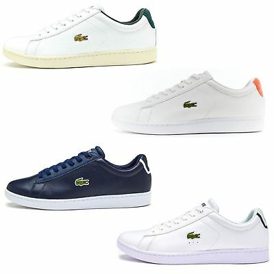 Lacoste Carnaby EVO 217 & 317 Leather Trainers in White