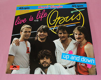 "Maxi 12"" Opus Live is Life ,Near Mint ,Polydor 881 792-1  Germany"