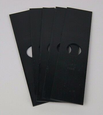 "Lot of 5 Edger Blades 7 3/4"" X 2"", 1"" Center Hole 2.4MM Thick Replacement"