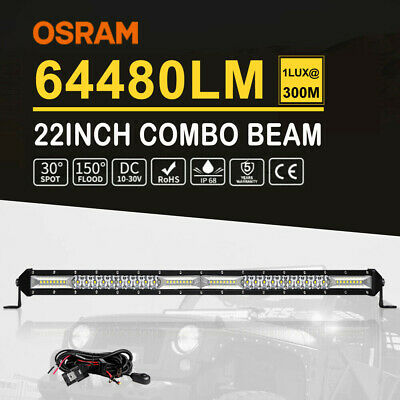 """CREE CURVED 52""""Inch 2080W LED Light Bar Spot Flood Offroad Work 4WD VS 42""""/50"""""""