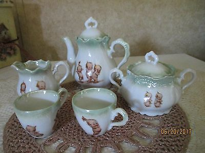 Vintage Kewpie Rose O'Neill Children's Tea Set Doll Tea Set Made in Germany 7PC