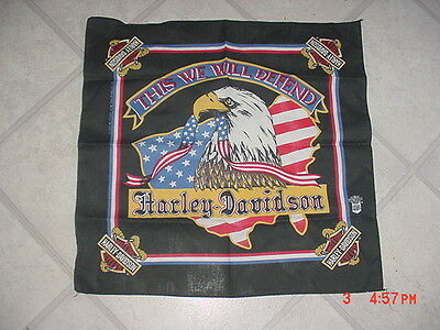 "Harley Davidson Motorcycle ""This We Will Defend"" Bandana Never Worn USA Eagle"