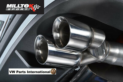 Seat Leon Cupra 280 290 2.0 TSI MILLTEK Sport RH Twin Polished 80mm Exhaust Tip