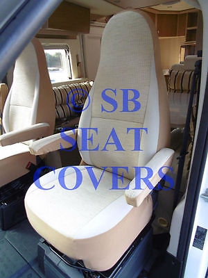 Fiat Ducato Motorhome Seat Covers Mh 515 Ivory Beige Aguti 2 Fronts