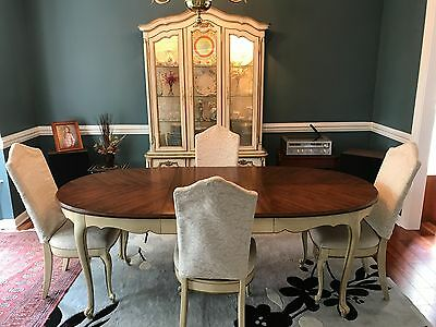 Vintage Drexel Touraine Provincial Hutch, Table and Chairs