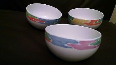 Block Spal Palette by Jack Prince Cereal/Soup Bowls set of 3