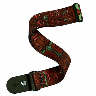 Red Planet Waves T20W1423 2-Inch Tiki Mask Guitar Strap