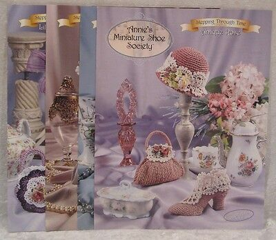 ANNIE'S ATTIC by Annie Potter- Crochet Patterns Miniature Shoes Society Booklets