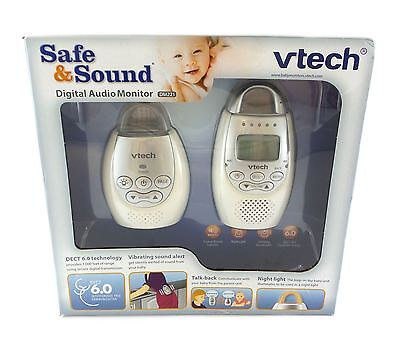 Vtech Safe & Sound Digital Audio Baby Monitor 2 Way Talk DECT 6.0 DM221 White